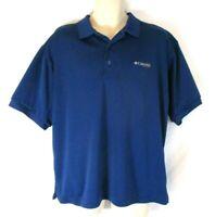 Columbia PFG Omni Shade Polo Shirt Vented Blue Medium Short Sleeve Men CBV14