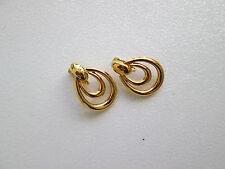 80`s USA Vintage Designer AVON sign. Clips Ohrringe Ohrclips RAR !