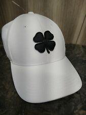 New Black Clover Irish Live Lucky Premium White Fitted L/XL Hat Cap