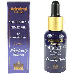 Nourishing Beard Oil For Growth Admiral Moisturising Male Grooming Kit 30ml