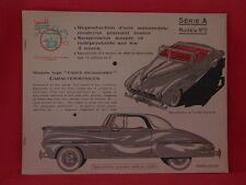 maquette de voiture à découper . 1956. Jouet Ellen