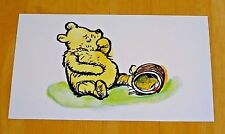 WINNIE-THE-POOH POSTCARD ~ POOH BEAR EATING HUNNY IN 100 ACRE WOOD ~ NEW