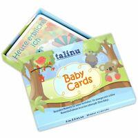 TALINU Memory Cards Baby 35 Erinnerungskarten erstes Lebensjahr zum ausfüllen