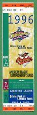YANKEES vs ORIOLES Full Season Stock TICKET STUB 1996 GAME 3 ALCS Jeter Rookie