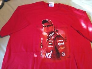 Rare Dale Earnhardt Jr Chase Authentics Men's T Shirt Size L Red NOS  cb-2