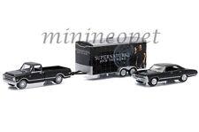 GREENLIGHT 51006 1967 CHEVY IMPALA & 1968 C-10 & SUPERNATURAL TRAILER 1/64 SET