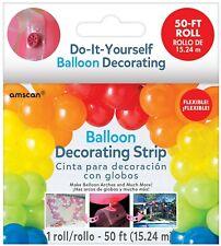 "Amscan Balloon Decorating Strip, 1"" x 600"", Clear"
