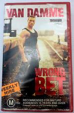 Wrong Bet Van Damme VHS Video Cassette Tape Red Big Box PAL M15+ 1990 Ex-rental