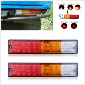 2PCS 12V 20 LED Car Truck Trailer Tail Light Turn Signal Reverse Brake Rear Lamp