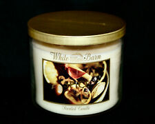 New WHITE BARN Spice Scented 3-Wick Jar Candle Vanilla Cinnamon Orange 25-45 Hrs