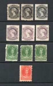 Nova Scotia - Small Lot of Mint Stamps - OG MH - SC# 8,9,11 & 12   No Reserve!