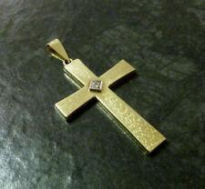 Markenlose Unisex Echtschmuck-Halsketten & -Anhänger mit Diamant