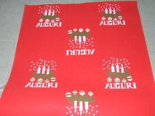 Passatoia natalizia rossa rotolo 50mt. H 100 tappeto candele auguri natale