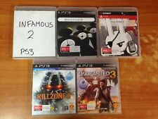 PS3 Lot of 5 Games-Infamous 2,God of War3,Uncharted3,Ass Creed Reve,Killzone3