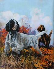 vintage art Lynn Bogue Hunt Hunting Bird Dogs