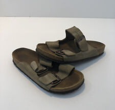 Birkenstock Arizona Womens 7 38 Light Brown Suede Sandals Slides Shoes