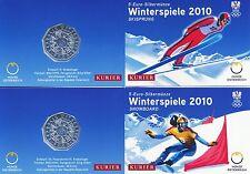 Österreich 5 Euro 2010 Silber Winterspiele 2x Miniblister
