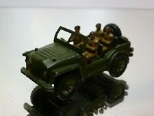 DINKY TOYS 674 AUSTIN CHAMP - MILITARY - ARMY GREEN 1:43 - GOOD CONDITION