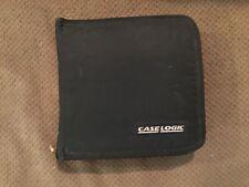 Vintage Black Case Logic 24 Slot CD DVD Case Zip Close - Good condition