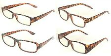 Mr. Reading Glasses [+3.75] 4 Pair Tortoise Plastic Frame Reader Wholesale 3.75