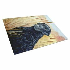 Caroline 7097Lcb Curly Coated Retriever Glass Cutting Board, Large, Multicolor