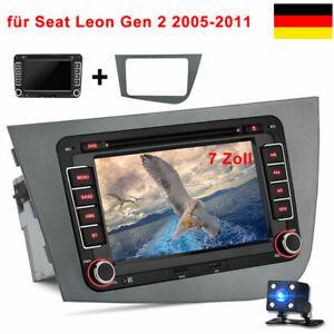 2Din 7'' Windows CE 6.0 Autoradio GPS Navi Kamera für Seat Leon Gen 2 2005-2011