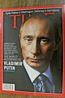 Time Magazine Vladimir Putin September 16 2013 Hayao Miyazaki Yoko Ono NO LABEL
