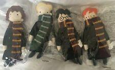 Pottery Barn Kids Harry Potter Holiday Ornaments Set 4 HARRY DRACO HERMIONE RON