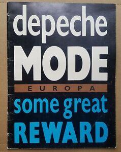 Depeche Mode SOME GREAT REWARD 1984 Europa Tour Program