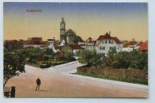 32513 AK Neckarsulm Straße mit Häusern und Kirche 1919