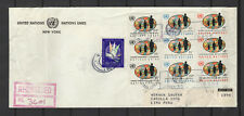 Nations Unies New-York 10 timbres sur lettre tampon à date 1965/B5N-U