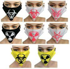 Cyber Punk Gótico máscara reutilizable que abarca radiación UV Fallout Bio Hazard Rave