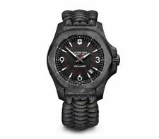 New Victorinox INOX Naimakka Carbon Black Dial Paracord Style Men's Watch 241776