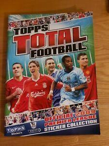 Topps Total Football Premier League 2009 Official Sticker Album EMPTY
