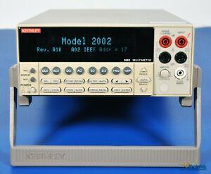 Keithley 2002 8.5 Digit Calibration Multimeter 8 1/2 Digit DMM - NIST Calibrated