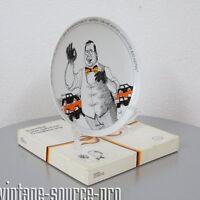 Rosenthal Studio Line Teller Satire Porzellan Wandteller Helmut Kohl 70er Jahre