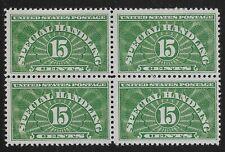 US Scott #QE2, Block of 4 1925 Special Handling 15c FVF MH/MNH