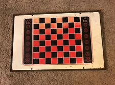 "CHESS CHECKER BOARD TABLE TOP TRAY 23""X15"" SIGN WALL HANGER"