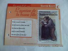 CARTE FICHE PLAISIR DE CHANTER GASTON COUTE L'AUMONE DE LA BONNE FILLE