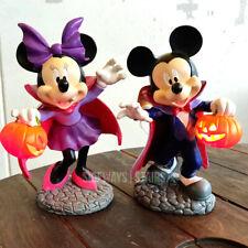 "VAMPIRE MICKEY & MINNIE GARDEN STATUES Disney Halloween decoration 10"" LED 2020"