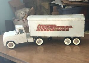 1950's Ford Structo Trans Continental Express Semi Truck Trailer Vintage Toy
