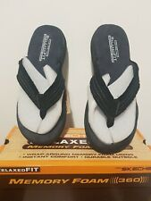 SKECHERS Mens Flip-Flops TWO DIFFERENT SIZE SHOES Arven Black Right 8/Left 10