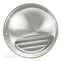 "Stainless Steel Wall Air Vent Round Metal Insect Grille 4"" 5"" 6"" 100 125 150mm"