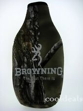 GREEN CAMO BROWNING BOTTLE KOOZIE WITH BUCK-MARK LOGO ON BOTH SIDES - NEW