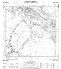 """Birstall (south), Yorkshire 1956 - OS 25"""" scale - old map, new reprint"""