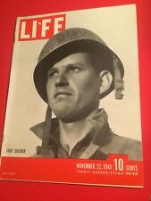 VINTAGE NOVEMBER 22,1943 LIFE MAGAZINE FEATURING FOOT SOLDIERS VN CONDITION