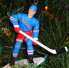 WAYNE GRETZKY NEW YORK RANGERS CHRISTMAS TREE ORNAMENT NHL Hockey Blue Jersey