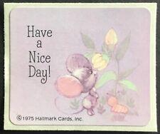 Vintage Sticker - Hallmark - Adorable Mouse - Dated 1975