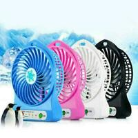Mini 3 speed desktop snowflake small fan portable USB battery rechargeable H3L7