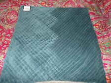 "WILLIAMS SONOMA HOME PLEATED VELVET PILLOW COVER, 22"", TURQUOISE,POTTERY BARN"